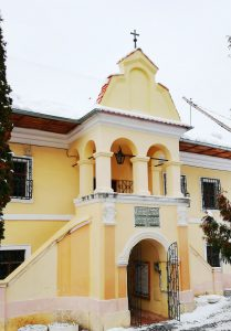 The building of First Romanian School, in Schei District, Brasov