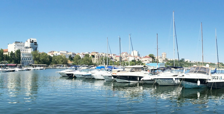 Touristic harbor in Constanta