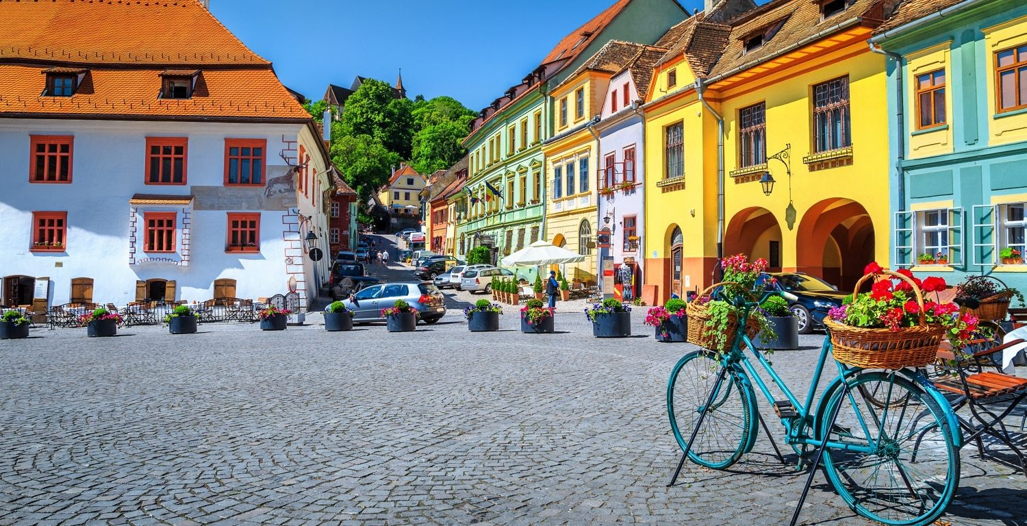 Colorful buildings in Sighisoara