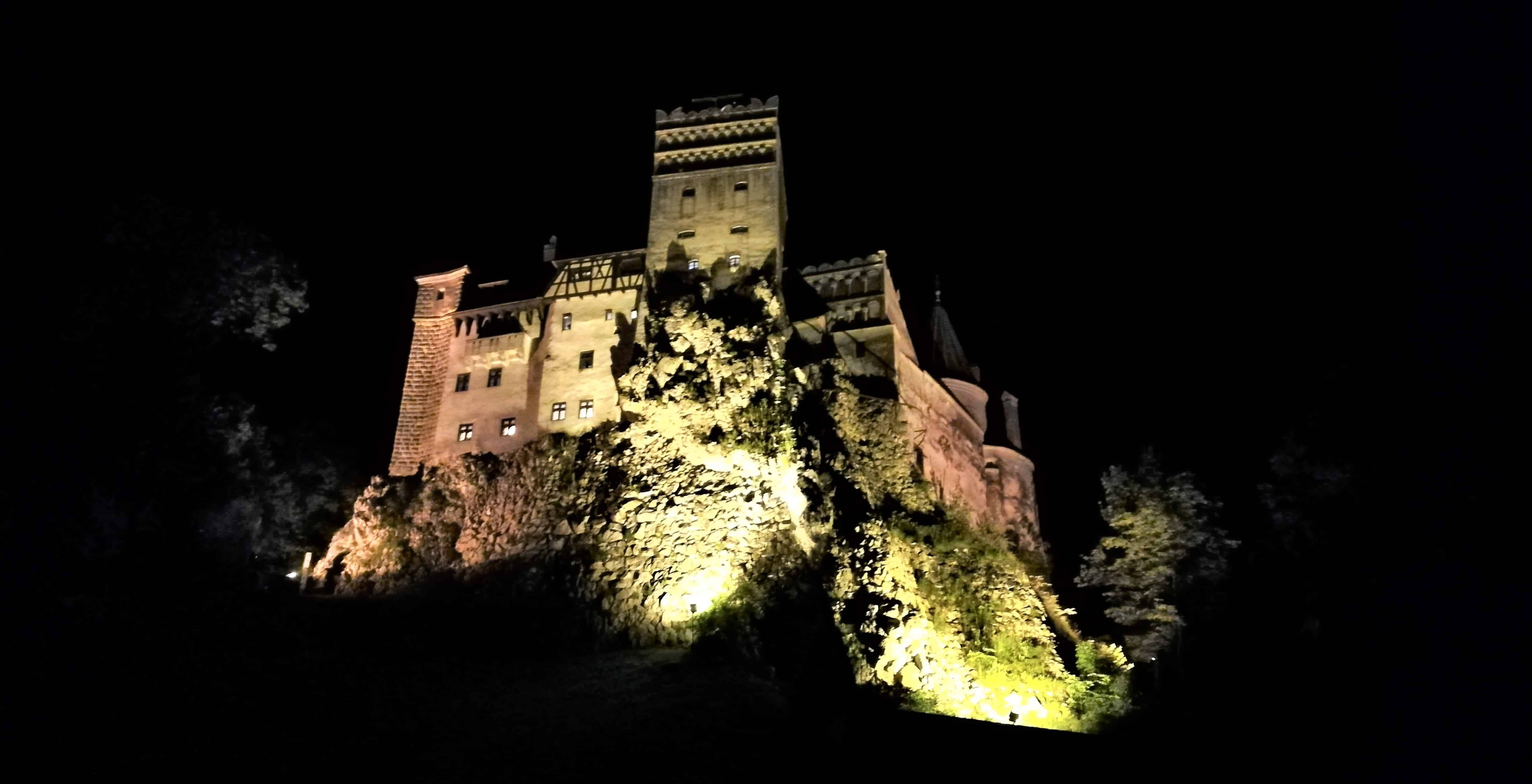 Romania On The Map Dracula's castle by night