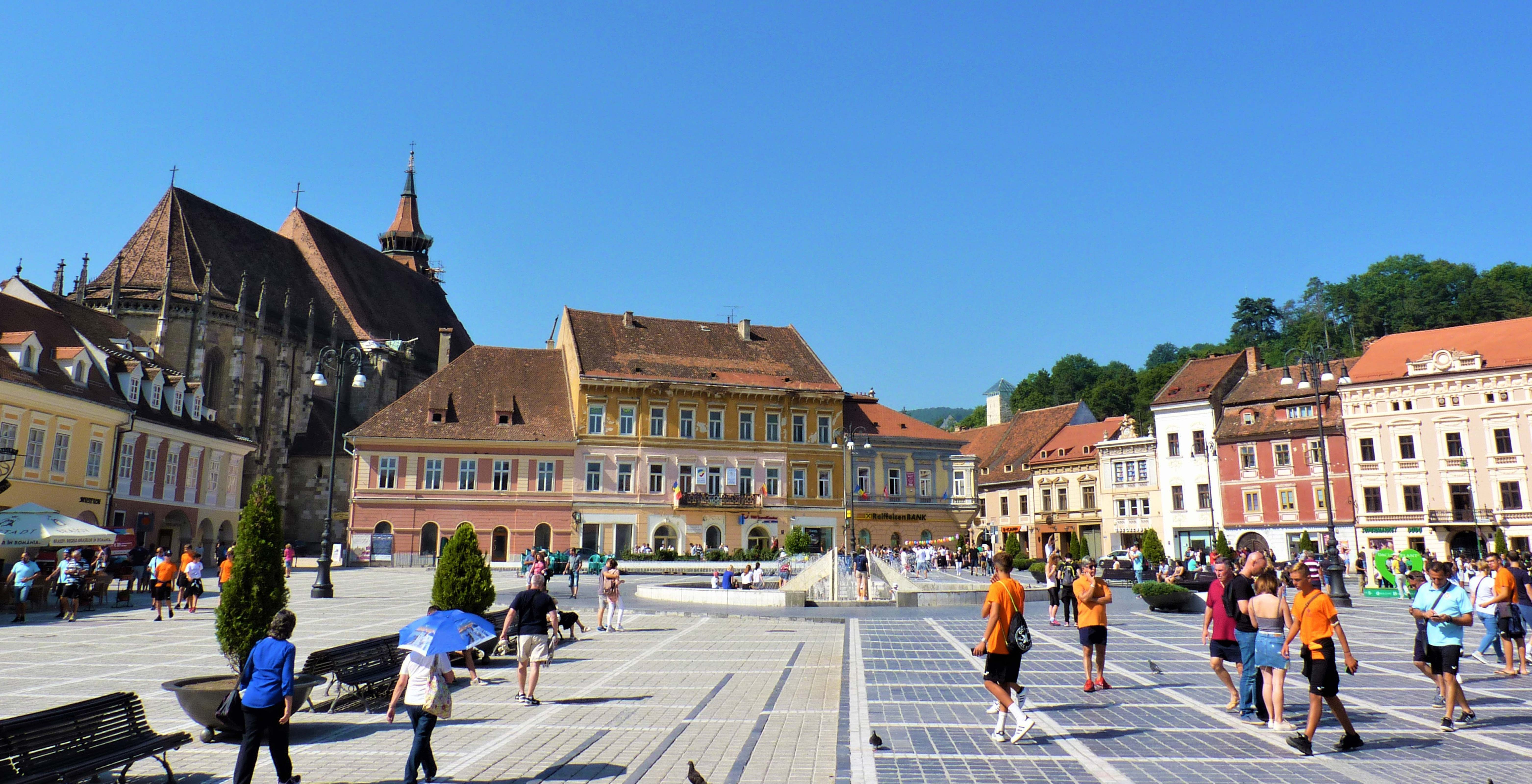 Central square Brasov Transylvania Romania On The Map