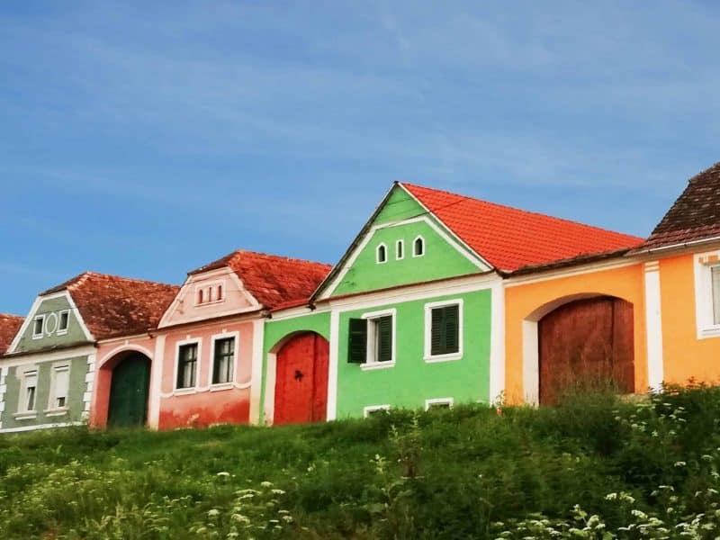 Traditional houses in Alma Vii village, Transylvania