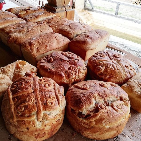 Freshly baked bread in Maramures