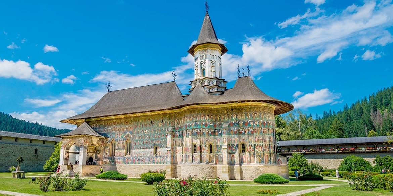 Sucevita Monastery in Bucovina, Romania
