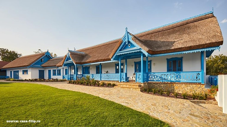 A beautifully restored old rural house from Dobrogea region