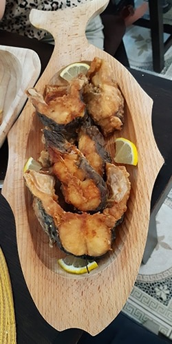 delicious fried fresh fish from Danube Delta